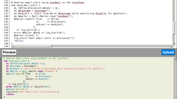portocode screenshot